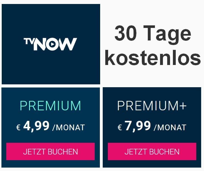 TVNOW PREMIUM+ jetzt 30 Tage kostenlos testen!