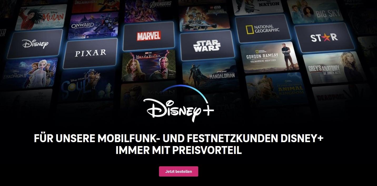 Disney+ 1 Monat kostenlos für MagentaMobil-Kunden - danach nur 7€/Monat
