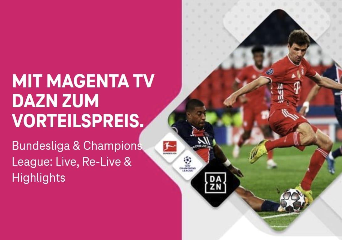 DAZN bei MagentaTV nur 11€ statt 11,99€!