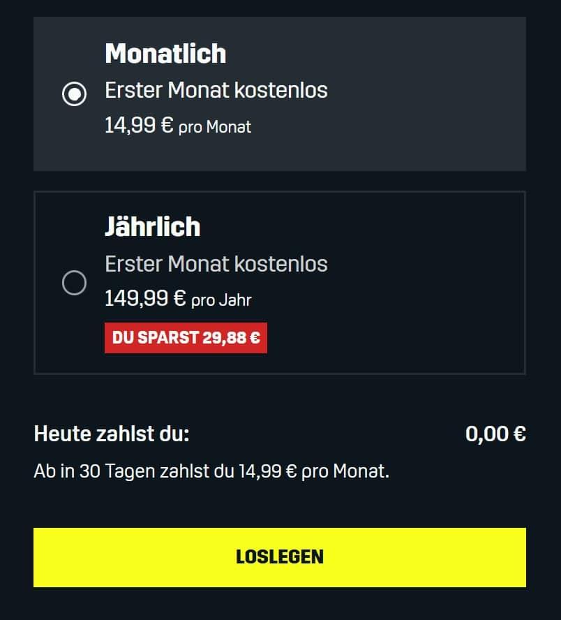 DAZN - Jetzt 1 Monat GRATIS testen, dann günstig ab 12,49€ mtl.!