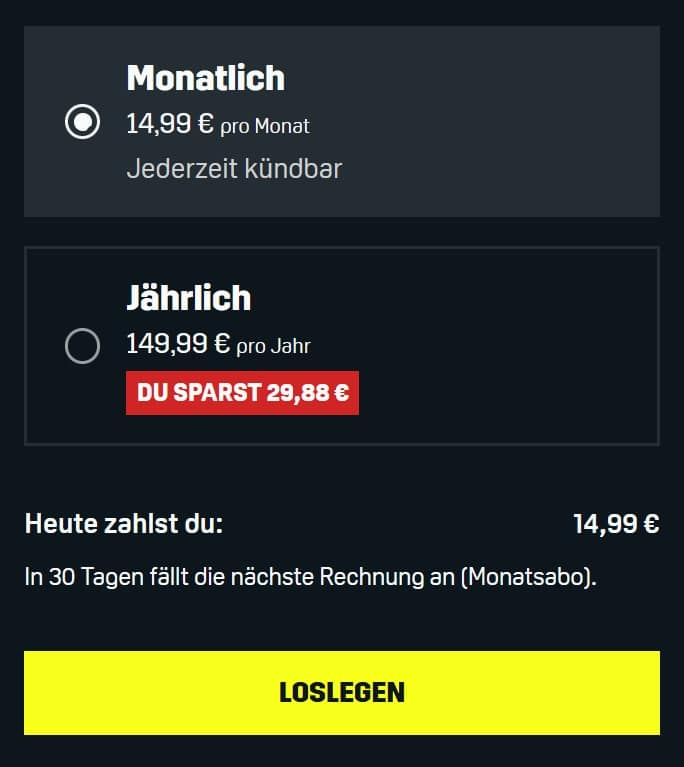 DAZN – Jetzt günstig ab 12,49€ mtl. streamen!