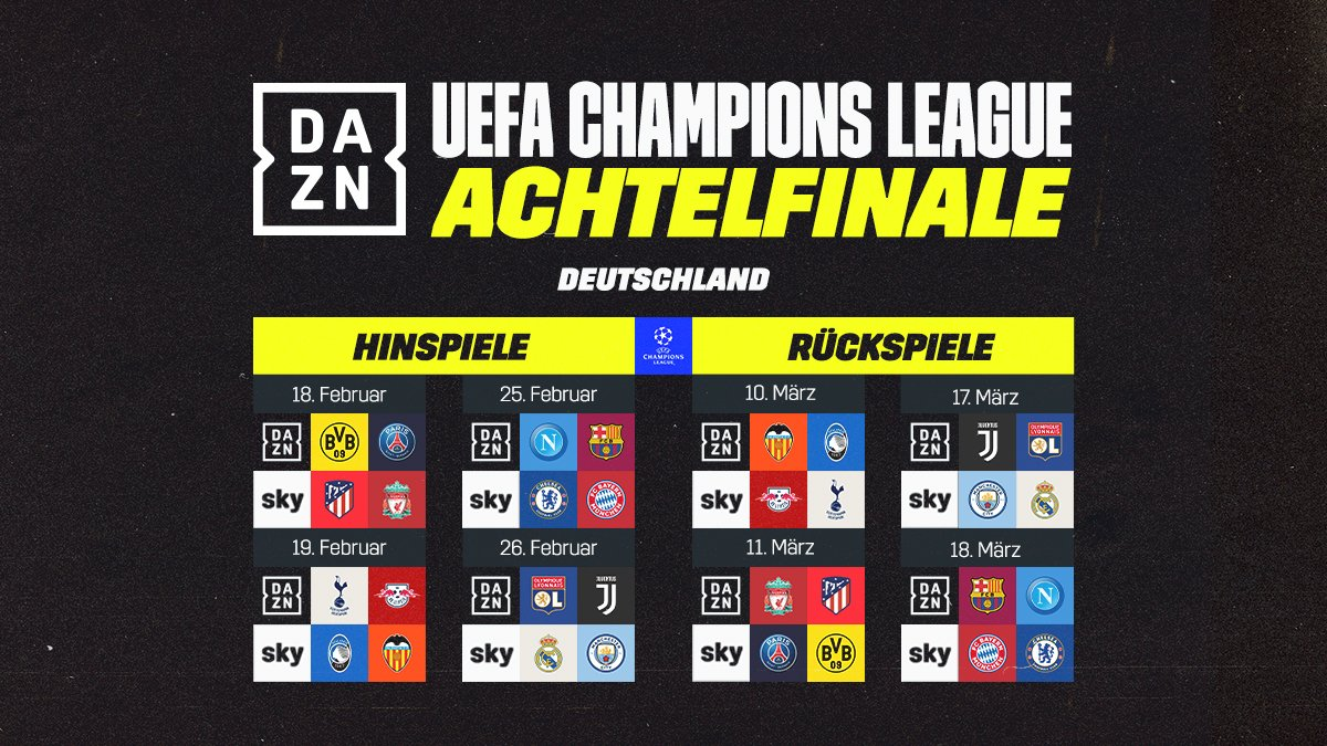 Champions League Achtelfinale 2020