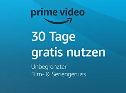 JETZT: Amazon Prime Video 30 Tage KOSTENLOS!