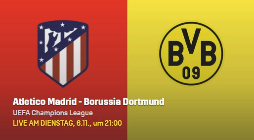 Atletico Madrid - Borussia Dortmund Live Stream