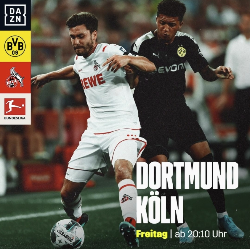 Borussia Dortmund - 1. FC Köln LIVE bei DAZN am 24.01.2020 ...
