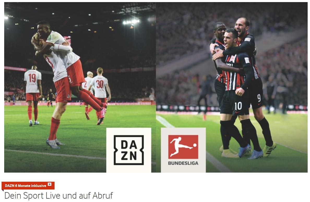 6 Monate DAZN inklusive bei Buchung von Vodafone GigaTV & Horizon TV