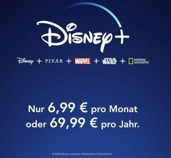 Nur im Januar 2021: Disney+ Angebot: 2 Monate kostenlos - Nur 5,83€/Monat im Jahresabo!