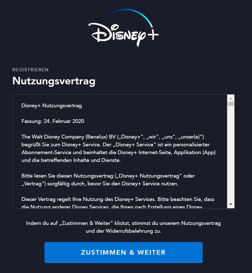 Disney Plus Anmeldung