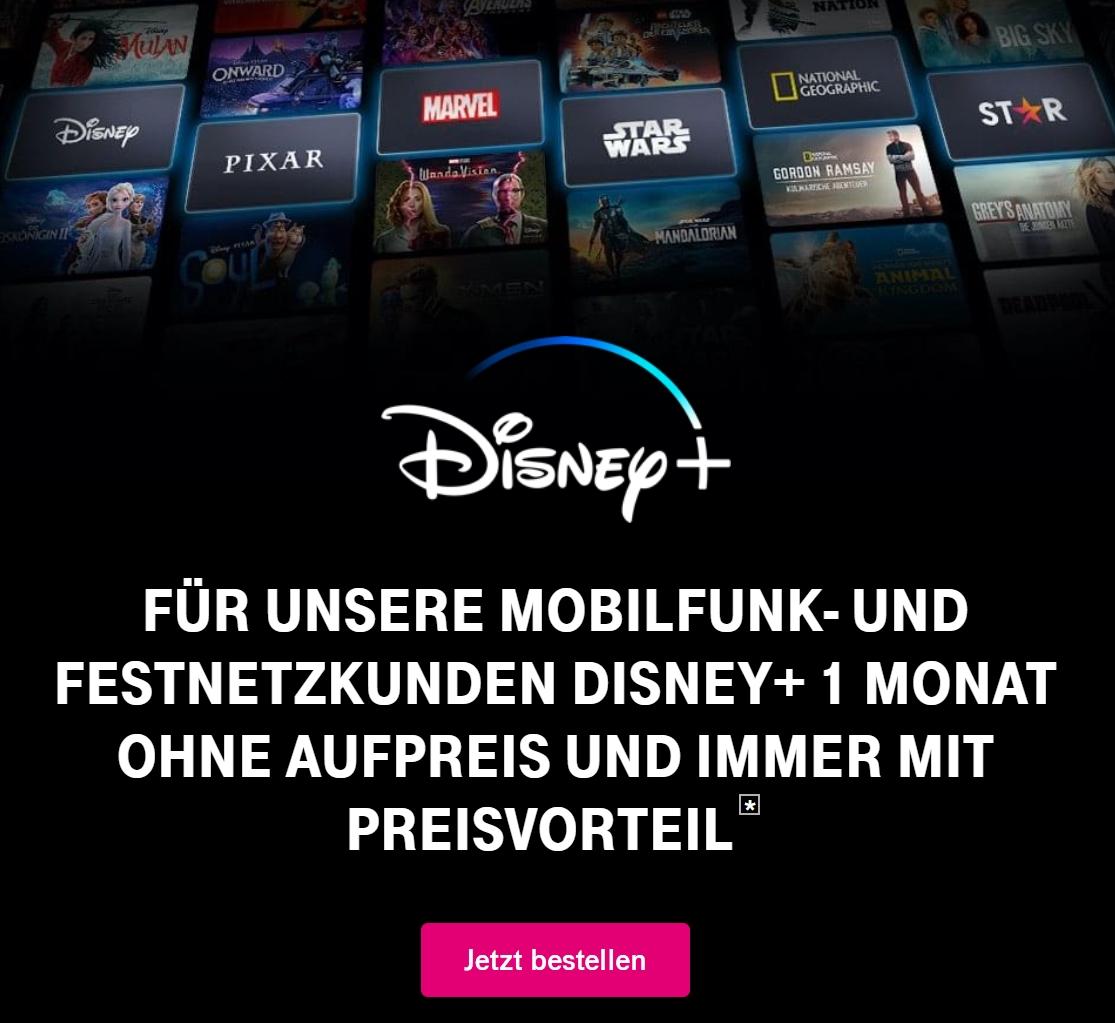 Disney+ 1 Monat kostenlos für Telekom-Kunden - JETZT: 1 Monat kostenlos!