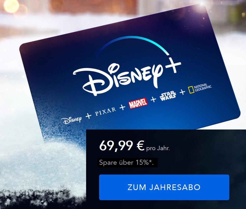 Disney+ Geschenkkarte - nur 69,99€ für Jahresfreischaltung