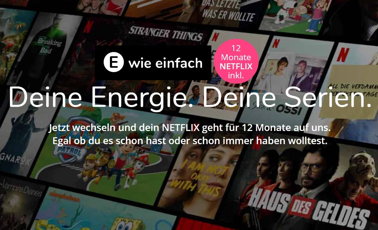 1 Jahr NETFLIX kostenlos zu E WIE EINFACH Strom oder Gas