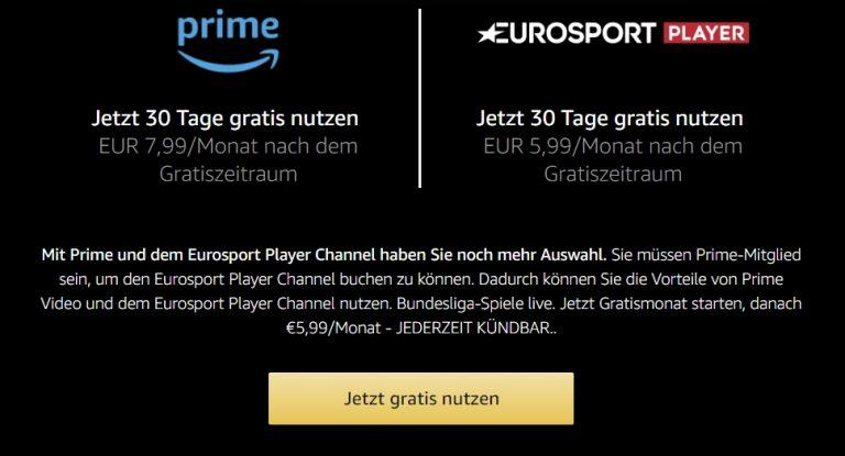 Eurosport Player 7 Tage Testen