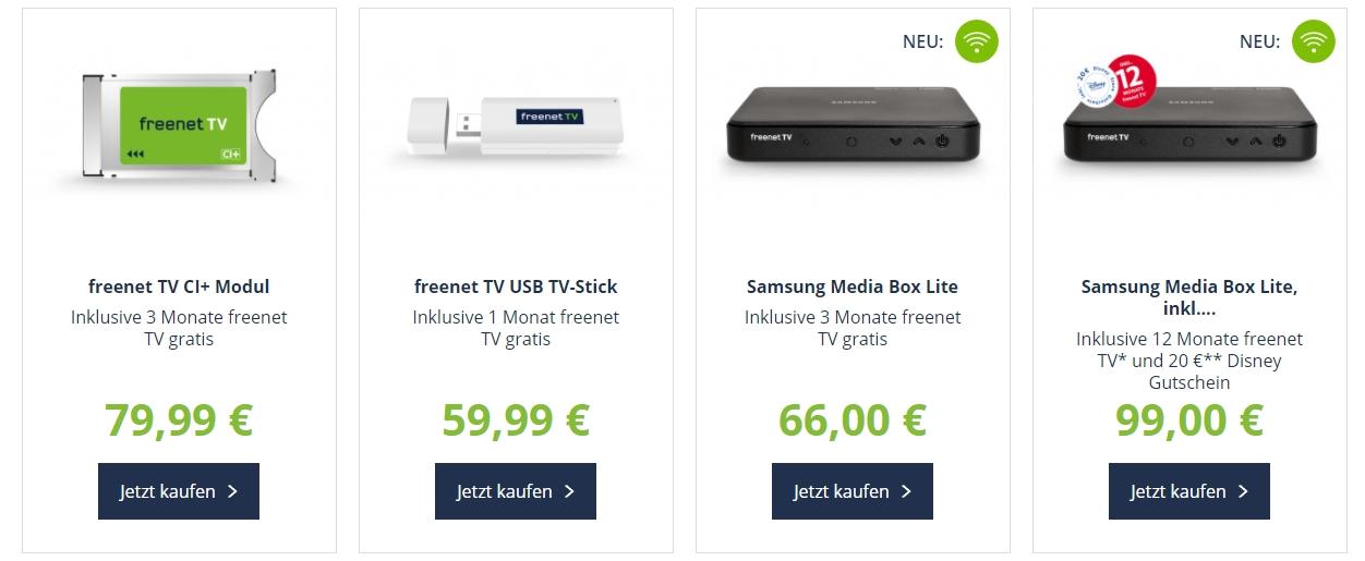 Freenet TV Angebote - DVB-T2 HD - AKTUELL: Dezember 2018