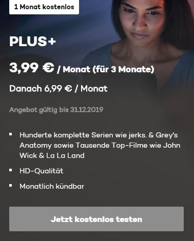 Joyn PLUS+ 1 Monat kostenlos, dann nur 3,99€!