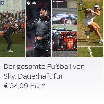 Dauertiefpreis-Special bei Sky: +5€, Preis immer gleich und monatl. kündbar!