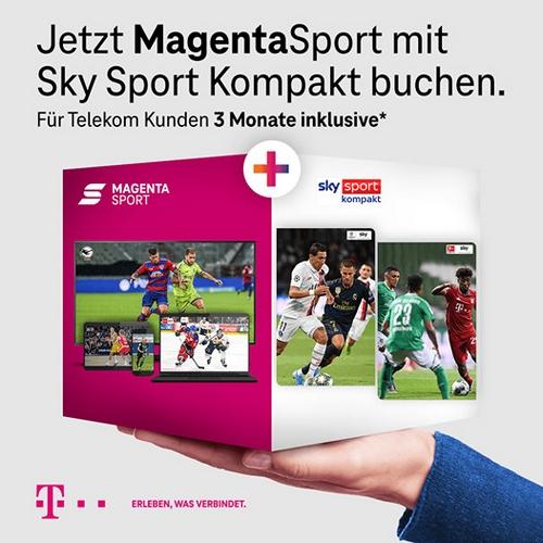 3 Monate GRATIS: Magenta Sport + Sky Sport kompakt