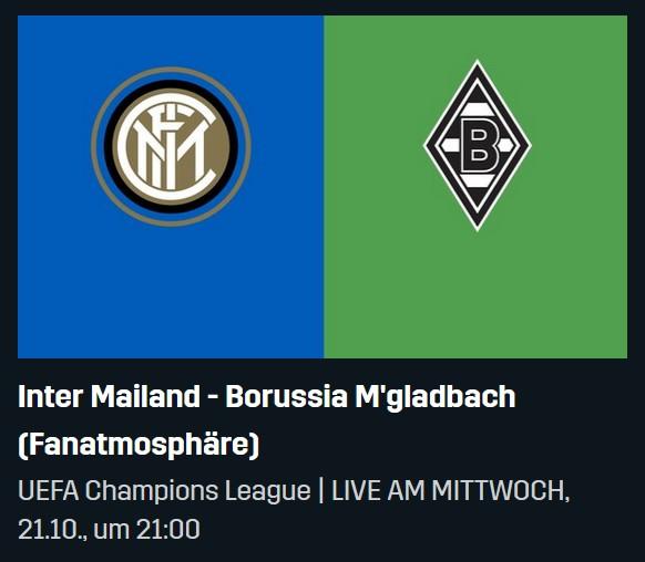 Inter Mailand Gladbach Live Bei Dazn Fur 0 00 Im Stream Tv Streaming Angebote