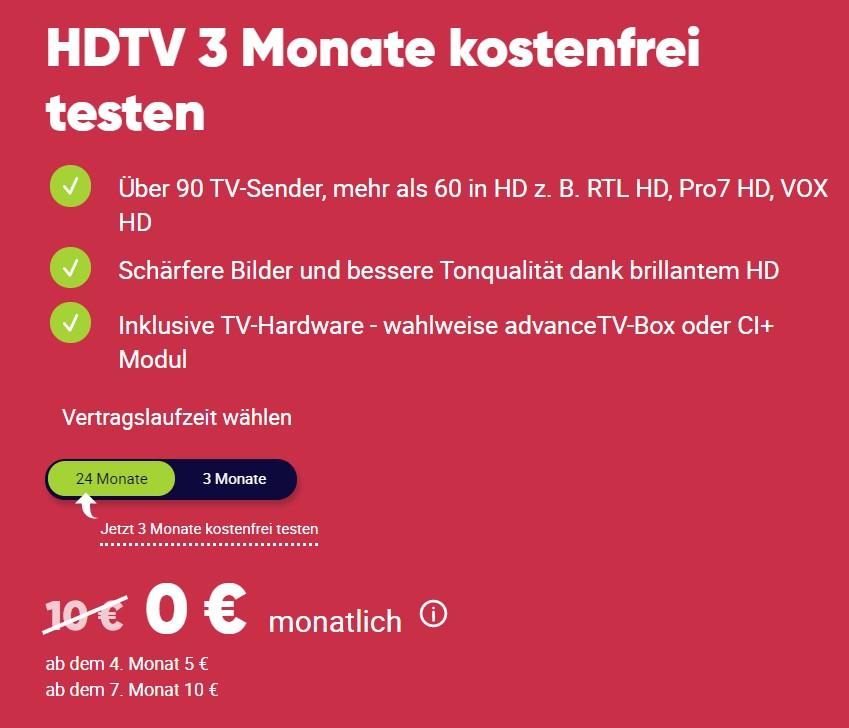 PŸUR HDTV Special: 3 Monate für 0,00€!