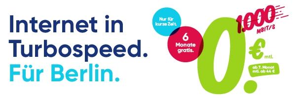 6 Monate gratis in Berlin: PŸUR Kombi-Angebot: Internet, HDTV und Telefon für 0€!