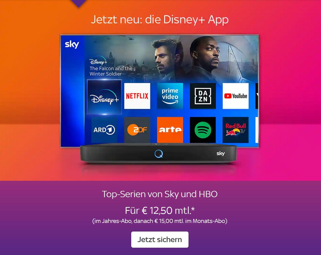 Sky Pakete im Angebot jetzt ab 12,50€/Monat inkl. Sky Q und HD!
