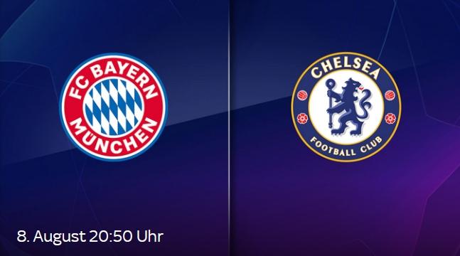 FC Bayern - Chelsea LIVE ab 9,99€/Monat im Sky Ticket Stream