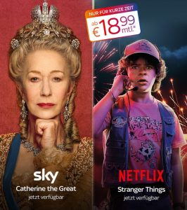 NETFLIX & Sky Kombi: Sky inkl. Netflix schon ab 18,99€/Monat!
