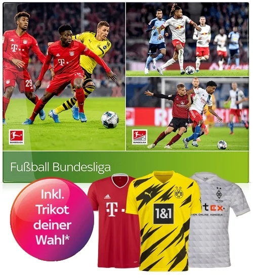 Sky Bundesliga Angebot nur 25€/Monat inkl. Trikot kostenlos!