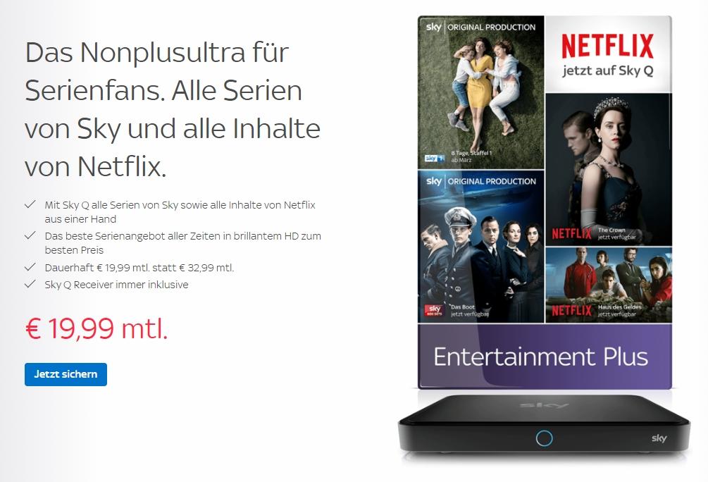 Serien Special Bei Sky 1999 Mtl Für Sky Inkl Netflix Wird Nie