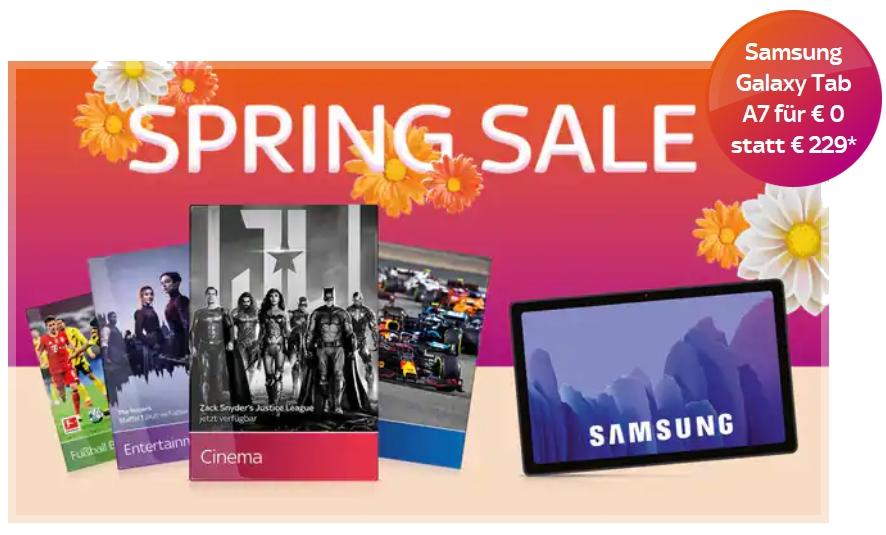 Sky komplett nur 40€ inkl. Samsung Tablet A7 gratis!