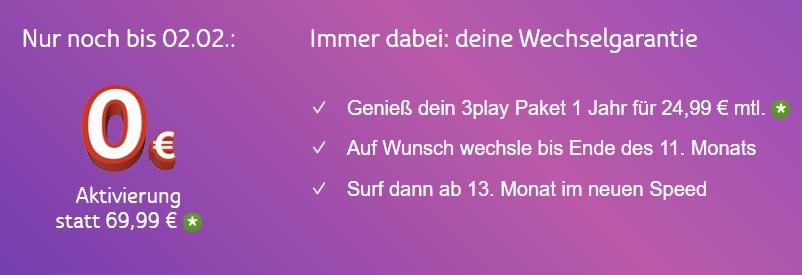 KURZ: 3Play Angebote: TV + Telefon + Internet nur 29,99€/Monat!